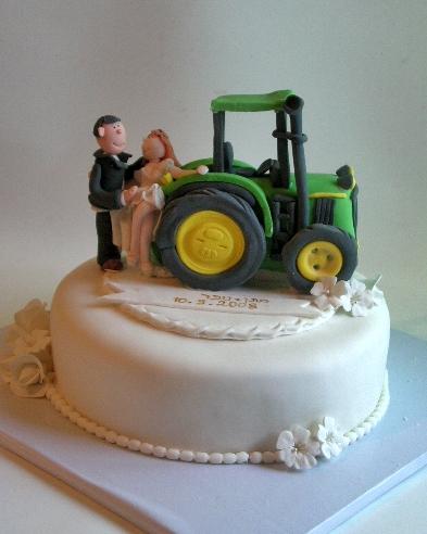 עוגת חתונה ג'ון דיר (טרקטור)
