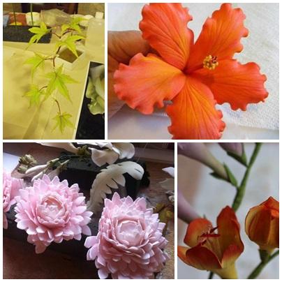 פרחים לעוגת חתונה