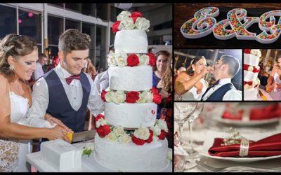 עוגת חתונה עם פרחים טריים