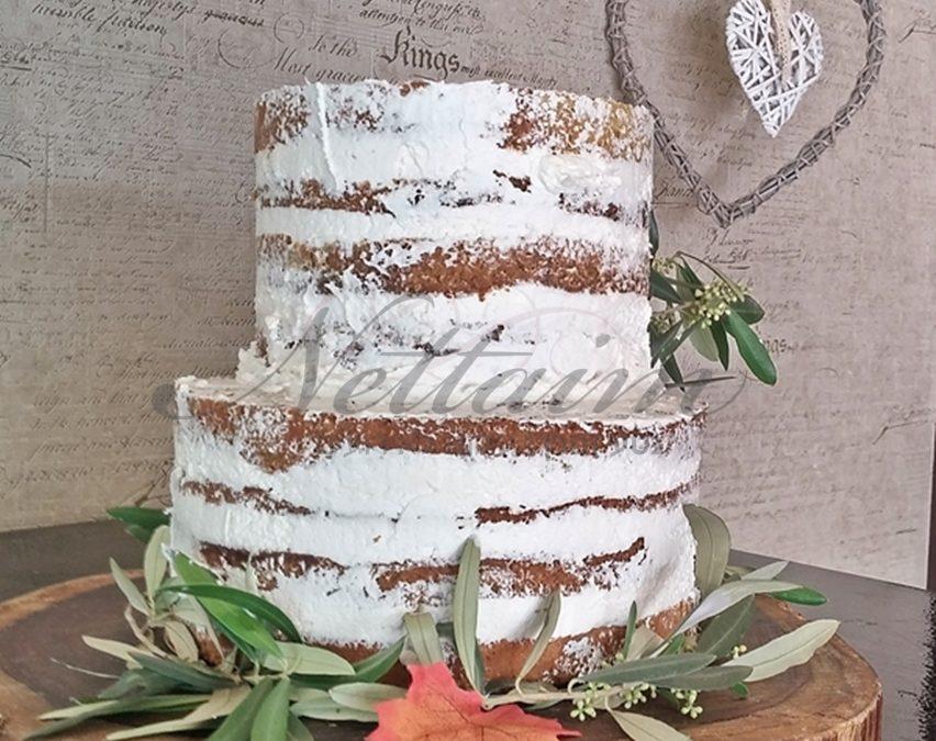 עוגת חתונה עירומה ללא בצר סוכר